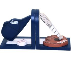 New York Yankee Sports Handpainted Bookends