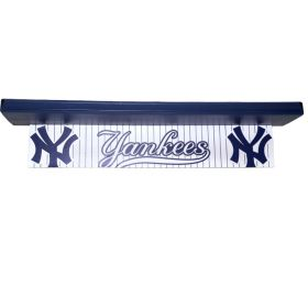 New York Yankee Baseball Handpainted Shelf