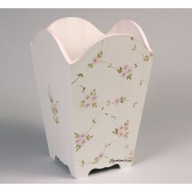 Rose Garden Hand Painted Wastebasket