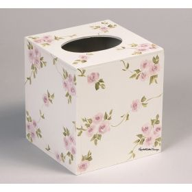 Rose Garden Hand Painted Tissue Box