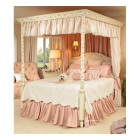 Courtney Floral Vines Canopy Bed