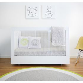 Roh Crib One Side Acrylic and White - Free Standard Shipping