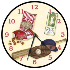 Play Ball Round Clock