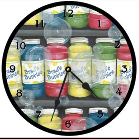 Bubbles Round Clock