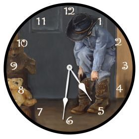 Cowboy Fun Round Clock