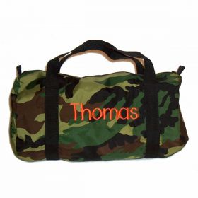 Children's Personalized Duffle Bag in Camo