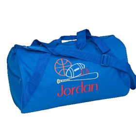 Children's Personalized Duffle Bag in Royal Navy Blue