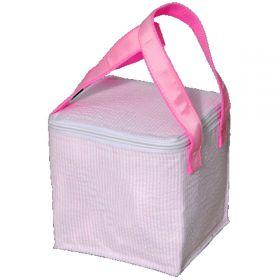 Children's Personalized Seersucker Mini Lunch Box in Pink