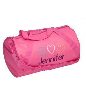 Children's Personalized Duffle Bag in Pink