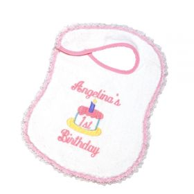 Velour Fancy Personalized Bibs 1st Birthday