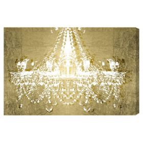 Dramatic Entrance GOLD Canvas Wall Art