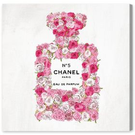 Number 5 Rose II Canvas Wall Art