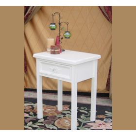Galleria 1 Drawer Nightstand with Crystal Knob