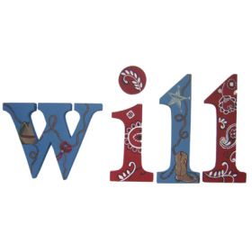 Will Howdy Partner Hand Painted Wooden Wall Letters
