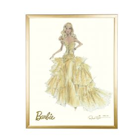 Barbie Limited Edition 50th Anniversary Gold Framed Print