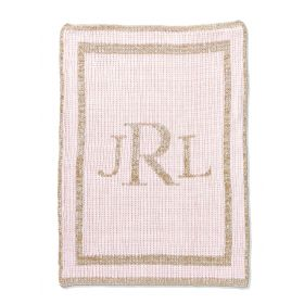 Metallic Classic Monogram Blanket