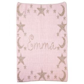 Metallic Night Time Sky & Name Blanket