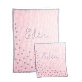 Metallic Sprinkled Dots Stroller Blanket