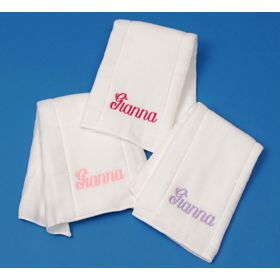 Personalized Burp Cloths Set of 3 with Name