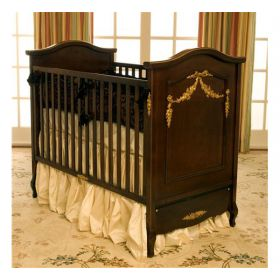 Floral Swag French Panel Crib in Regency Finish