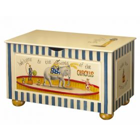 Vintage Circus Toy Chest