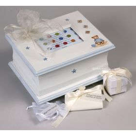 Memory Handpainted Keepsake Box with Teddy Bears