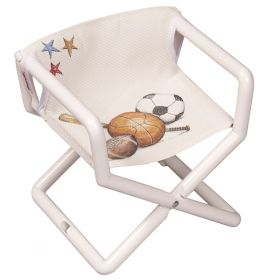 Sports Hand Painted Mesh Director Chair