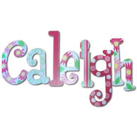 Caleigh Crazy Daisy Hand Painted Wooden Wall Letters
