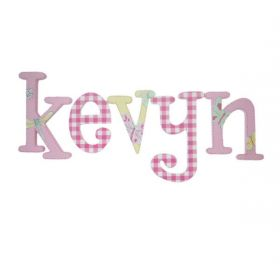 Kevyn Pink Butterfly Hand Painted Wooden Wall Letters