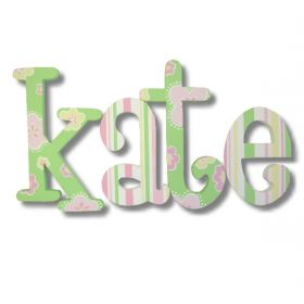 Kate Playful Garden Hand Painted Wooden Wall Letters