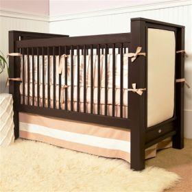 Ricki Crib with Upholstered Panels