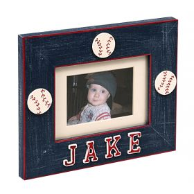 Baseball Personalized Handpainted Photo Frame