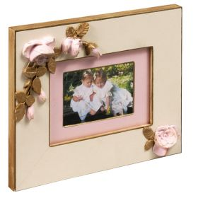 Pink Versailles Handpainted Floral Photo Frame