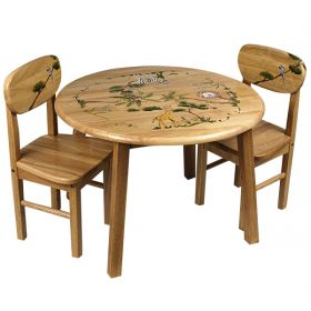 Safari Handpainted Table and Chair Set