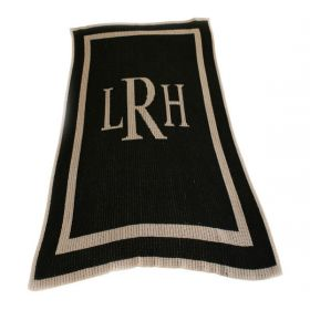 Classic Blanket with Monogrammed Initials
