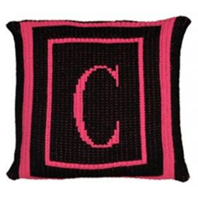 Classic Monogrammed Pillow with Double Border