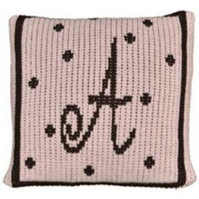 Precious Polka Dot Initial Pillow