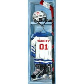 Hockey Locker Canvas Reproduction