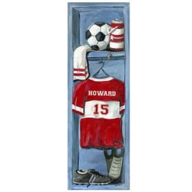 Soccer Locker Canvas Reproduction