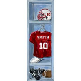 Football Locker Canvas Reproduction