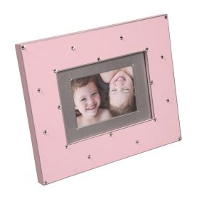 Bling Around the Rosey Handpainted Wooden Picture Frame