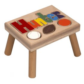 Sports Personalized Wooden Step Stool