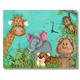 Zoo Animals Large Clock