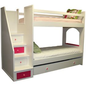 Flower Fantasy Bunkbed with Drawers