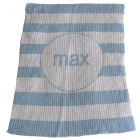 Modern Stripe Stroller Blanket with Name