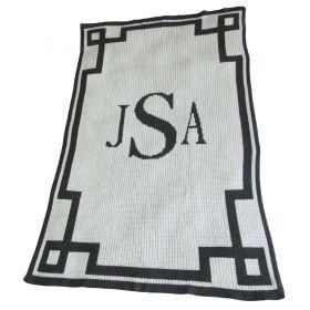 Scroll Stroller Blanket with Monogram