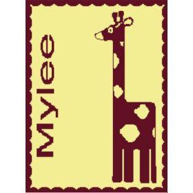 Giraffe Stroller Blanket with Name