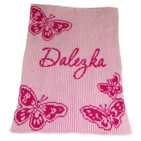 Butterfly Stroller Blanket with Name