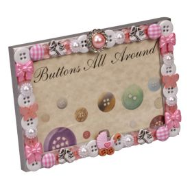 Baby Girl Buttons All Around Horizontal Picture Frame