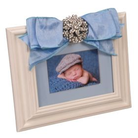 Baby Boy Picture Frame with Brooch